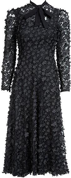 'Camille' Dress i 3D Black Ida Sjöstedt