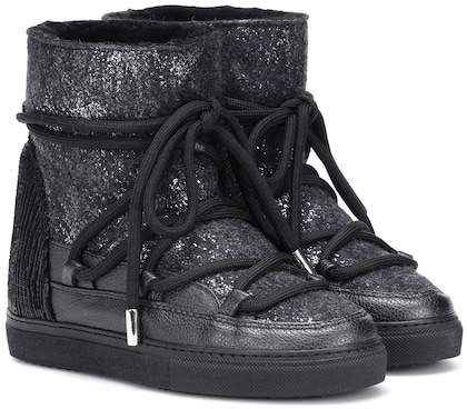 Leather-trimmed Ankle Boots Inuikii