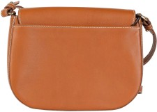 Medium Saddle Bag i Tan Leather Little Lifner bak