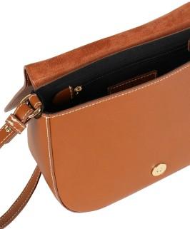 Medium Saddle Bag i Tan Leather Little Lifner sida (1)