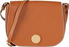 Medium Saddle Bag i Tan Leather Little Lifner sida (2)