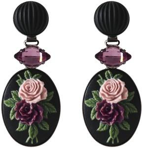 Rosa Flower Earrings med Light Amethyst Caroline Svedbom
