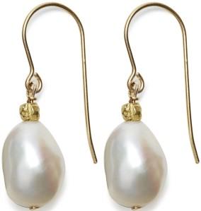 'Sofie' Earrings i Gold White In2Design