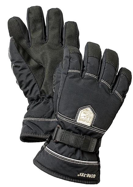 Svarta fingerhandskar från Hestra
