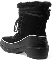 Torino waterproof suede, shell and leather ankle boots i Black Sorel bak