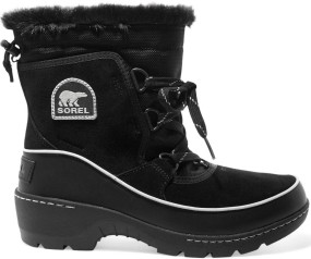 Torino waterproof suede, shell and leather ankle boots i Black Sorel sida