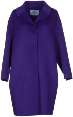 Coat i Dark Purple Prada fram
