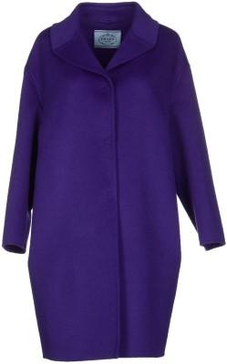 Coat i Dark Purple Prada fram