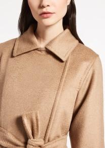 'Manuela' Camelhair Coat i Camel Max Mara närbild