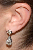 Droppformade diamantörhängen