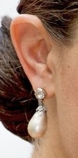 Droppformat pärlörhänge