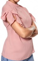 'Grace' Top i Dusty Pink Daisy Grace närbild (2)