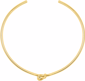 Knot Choker i Gold Plated Brass från Sophie by Sophie
