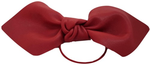 Leather Bowtie i Red Corinne