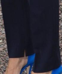 Svarta eller mörkblå oidentifierade kostymbyxor Victoria nederdel
