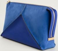 'Cavendish' Faux Suede and Faux Leather Shoulder Bag i Blue från Stella McCartney sida