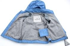 'Eustache' Junior Boy Windbreaker Jacket i Light Blue Moncler öppen (1)