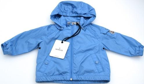 'Eustache' Junior Boy Windbreaker Jacket i Light Blue Moncler öppen (2)