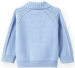 Infant Boys' Cable Pullover Sweater Jacadi bak