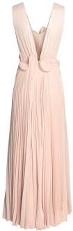 Plisserad Långklänning i Puderbeige H&M bak