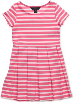 SSL Stripe Dress iBlaze FuchsiaW Ralph Lauren fram