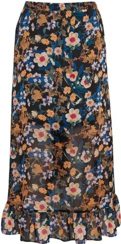 'Fally' Skirt i Multi Black Flower Gestuz bak