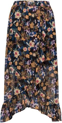 'Fally' Skirt i Multi Black Flower Gestuz fram