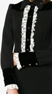 Lace-Trimmed Long Sleeve Dress Philosophy di Lorenzo Serafini nära