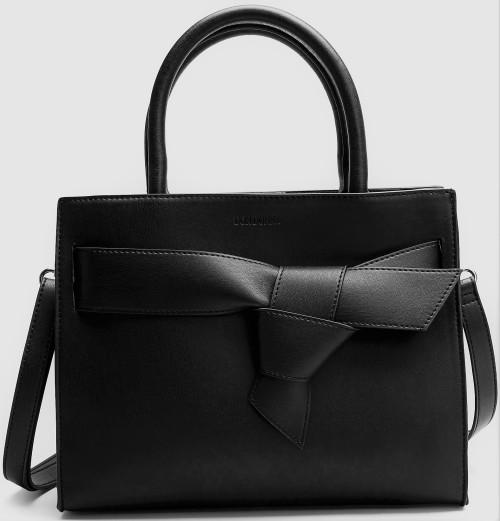 'Luna' Bow Carryall Handväska i Svart Don Donna