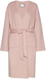 'Ondala' Wool Coat i Pale Mauve Andiata fram