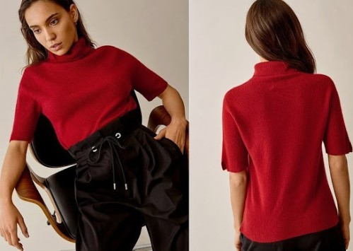 Short-Sleeve-Turtle-Neck-Cashmere-Sweater-Soft-Goat
