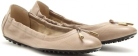 tods-taupe-dee-leather-ballerinas