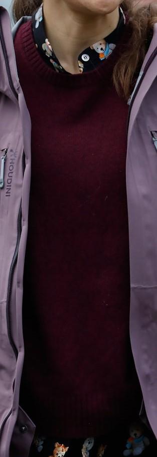 Vinröd tröja 31 oktober 2017