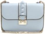 Lock Leather Shoulder Bag i Powder Blue Valentino