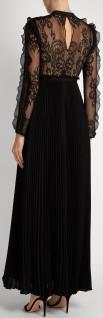 moni-lace-and-pleated-crepe-maxi-dress-i-black-self-portrait-bak