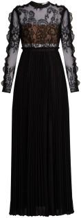 moni-lace-and-pleated-crepe-maxi-dress-i-black-self-portrait