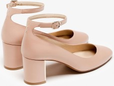 Ankle Strap High-Heel Shoes i Nude Massimo Dutti bak