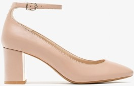 Ankle Strap High-Heel Shoes i Nude Massimo Dutti