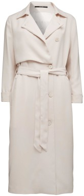 'Athina' Trench Coat i Crystal Grey Tiger of Sweden (1)