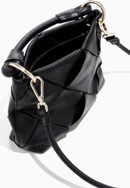 Braided Leather Crossbody i Black & Other Stories open