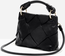 Braided Leather Crossbody i Black & Other Stories sida