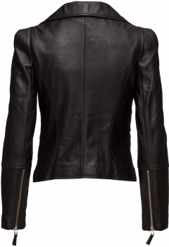 'Dayo' Leather Jacket i Black By Malina bak