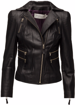 'Dayo' Leather Jacket i Black By Malina