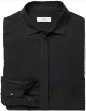 Diamond G Featherweight Twill Blus i Black GANT folded