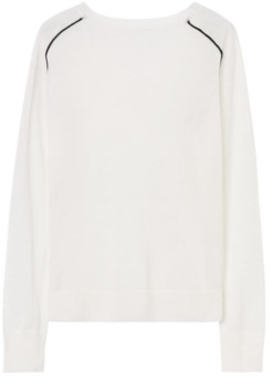 Diamond G Merino V-Neck i Nature White GANT