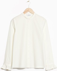 Frilled Cuff Shirt i Off White & Other Stories