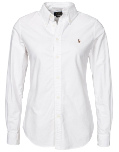 'Harper' Long Sleeve Shirt i Vit