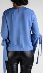 'Ingrid' Blouse i Blue Stylelevel bak