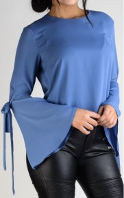 'Ingrid' Blouse i Blue Stylelevel