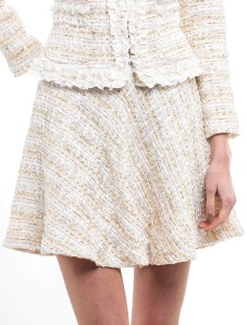 'Kate' Skirt i Beige Veronica Virta